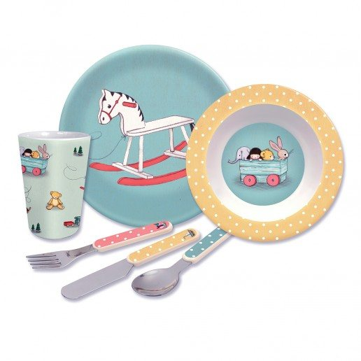 Belle & Boo Belle & Boo Toy Box 6 Piece Melamine Set