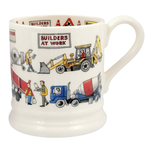 Emma Bridgewater Emma Bridgewater Builders At Work 1/2pt Mug