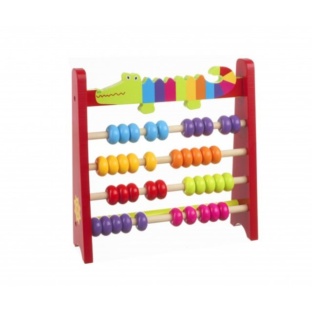 Orange Tree Crocodile Wooden Abacus