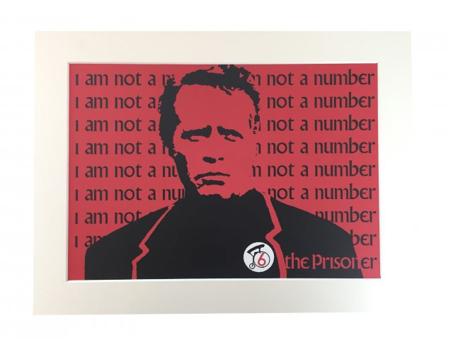 The Prisoner The Prisoner I Am Not A Number Mounted Print