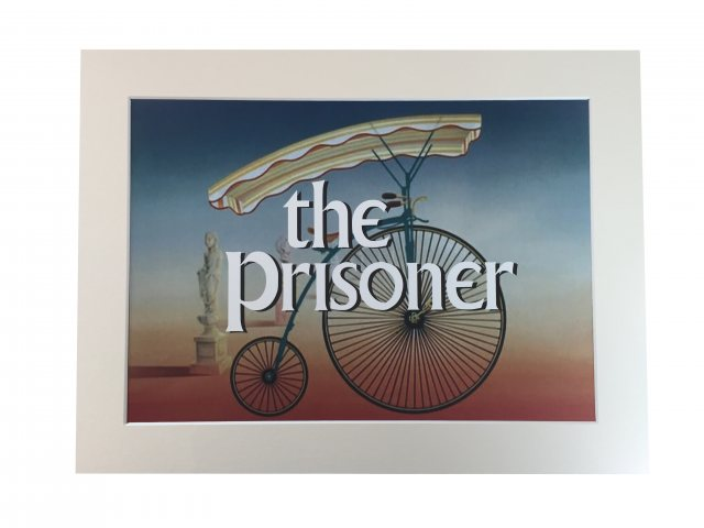 The Prisoner The Prisoner Pennyfarthing Mounted Print