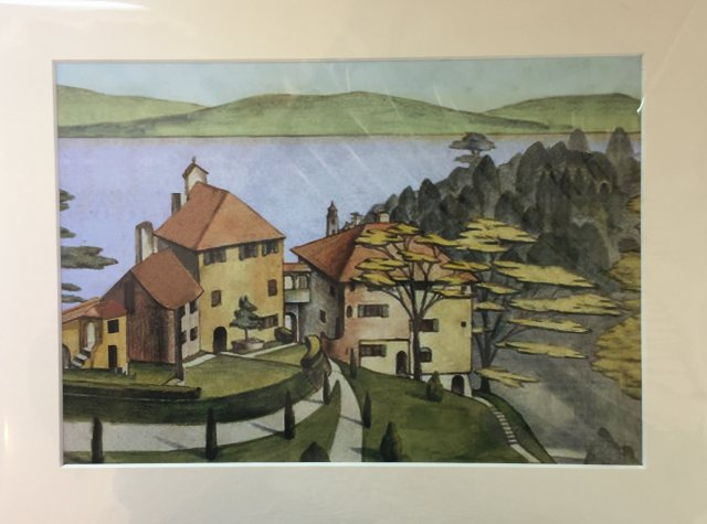 Portmeirion View From Chantry by Meryl Watts Mounted Print