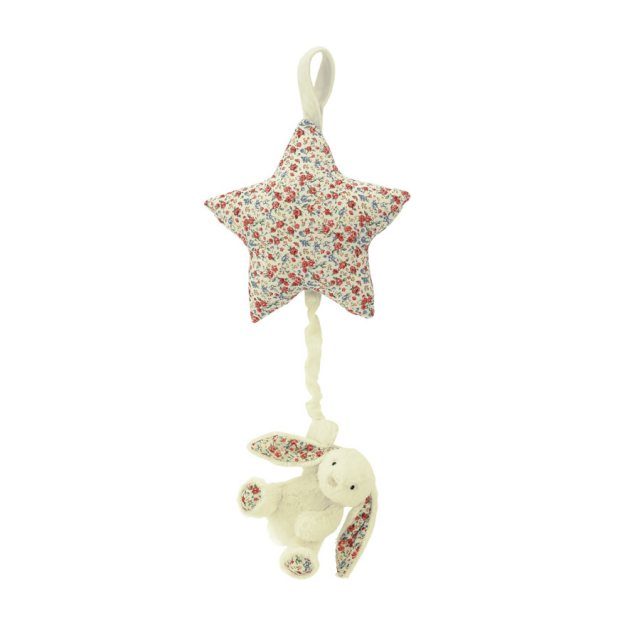Jellycat Soft Toys Jellycat Blossom Cream Bunny Star Musical Pull