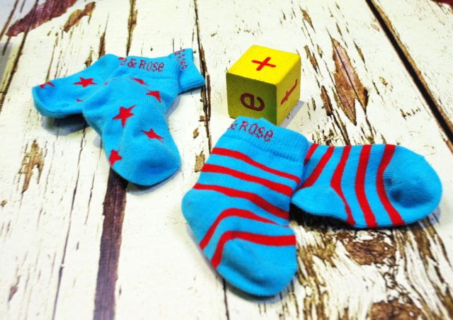 Blade & Rose Blade & Rose Atoll Blue & Red Socks 6-12 Months
