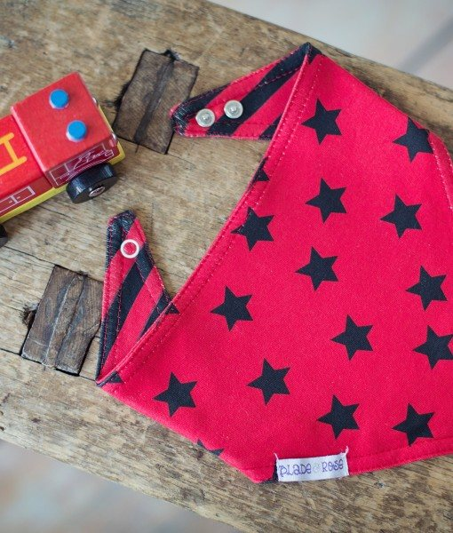 Blade & Rose Blade & Rose Red & Black Bandana Bib