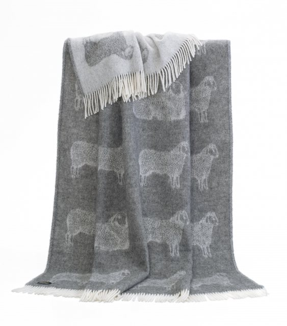 JJ Textiles Sheep Pure Wool Throw