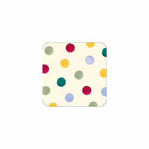 Emma Bridgewater Emma Bridgewater Polka Dot Set of 4 Melamine Coasters