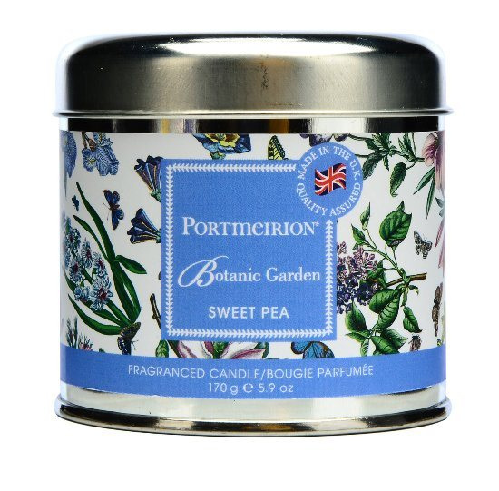 Portmeirion Portmeirion Botanic Garden Sweet Pea Wax Filled Siver Tin