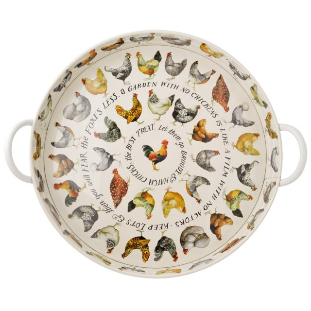 Emma Bridgewater Emma Bridgewater Hen Steel Tray with Handles