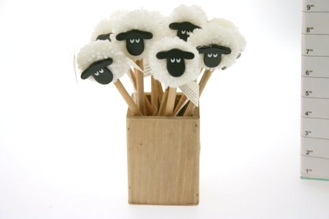Sheep Pom Pom Pencils