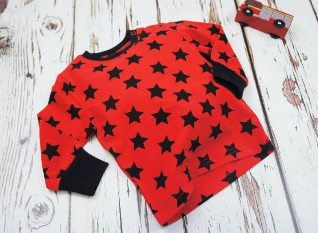 Blade & Rose Blade & Rose Red and Black Star T-Shirt 6-12m