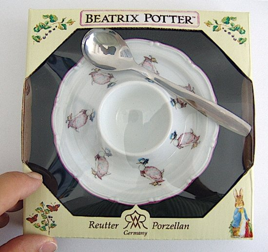 Peter Rabbit Beatrix Potter Jemima Egg Plate
