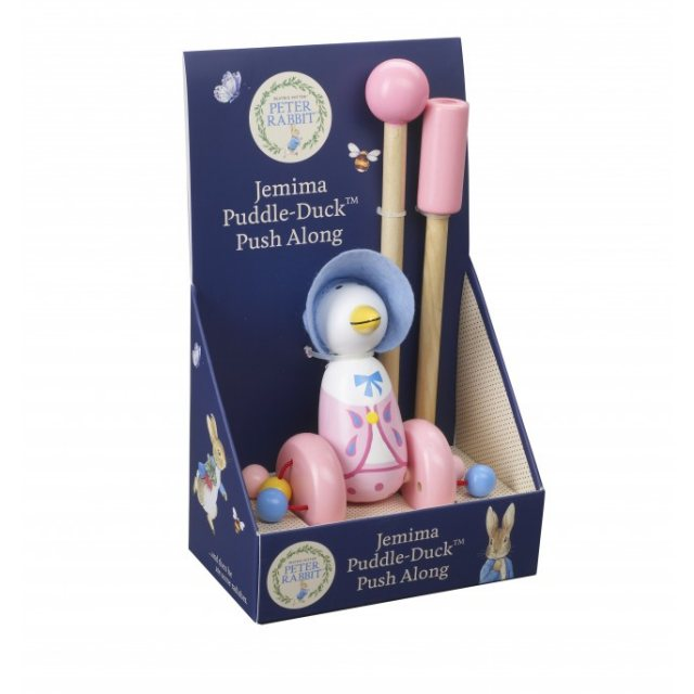 Peter Rabbit Boxed Jemima Puddle-Duck Wooden Push Along