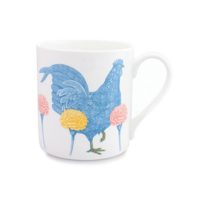Thornback & Peel Thornback & Peel Chicken & Carnation Mug
