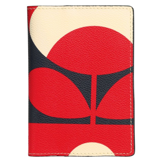 Orla Kiely Orla Kiely Spring Bloom Passport Cover - Ruby