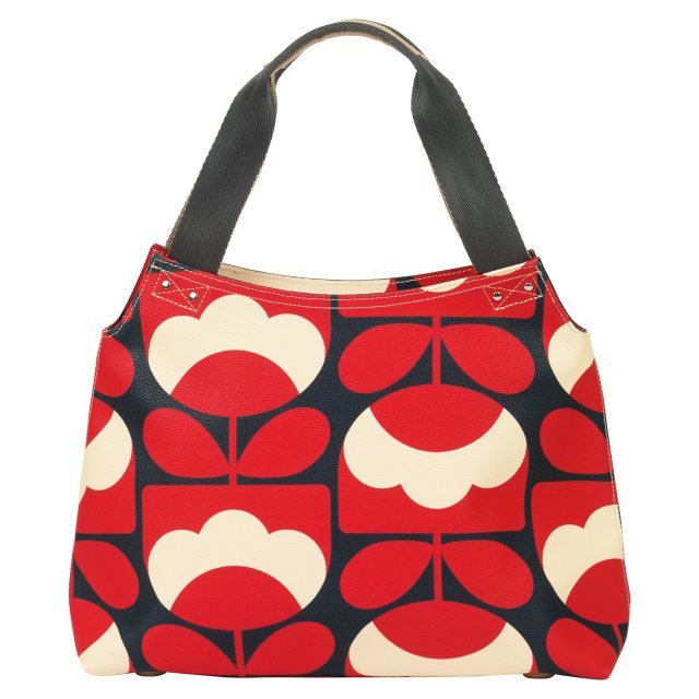 Orla Kiely Orla Kiely Spring Bloom Zip Shoulder Bag - Ruby