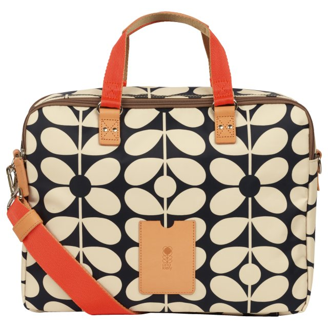 Orla Kiely Orla Kiely Sixties Stem Work Bag - Charcoal Blue