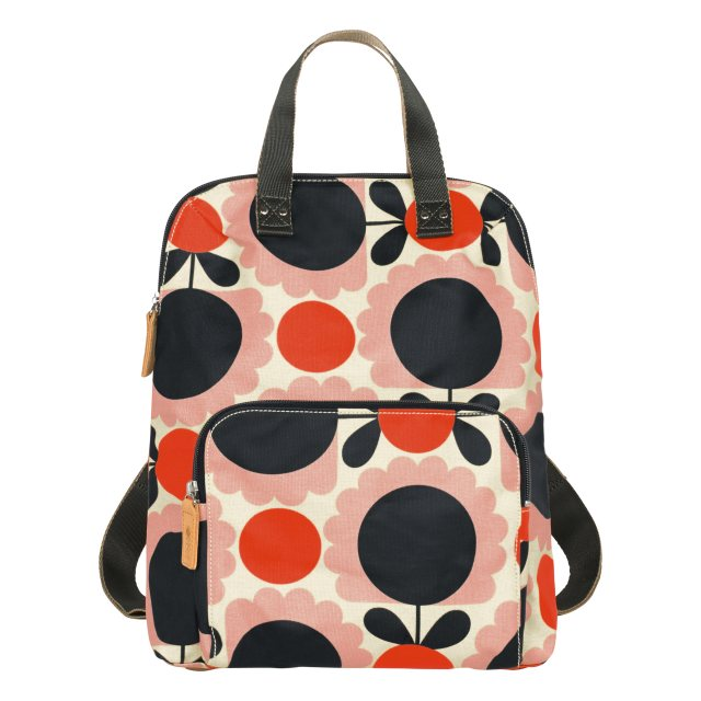 Orla Kiely Orla Kiely Scallop Flower Spot Small Backpack Tote Bag - Blush