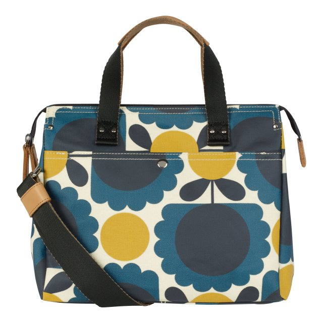 Orla Kiely Orla Kiely Scallop Flower Spot Small Zip Messenger Denim