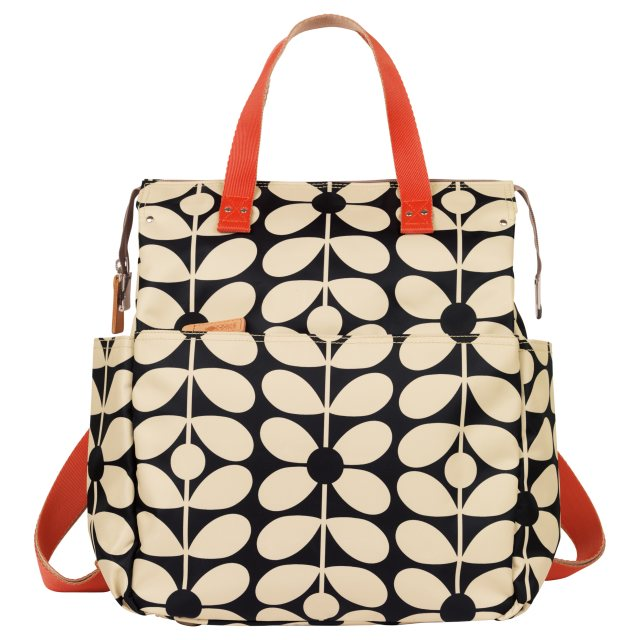 Orla Kiely Orla Kiely Sixties Stem Backpack Baby Bag - Charcoal Blue