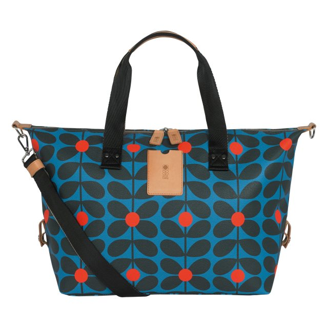 Orla Kiely Orla Kiely Sixties Stem Medium Zip Holdall Kingfisher