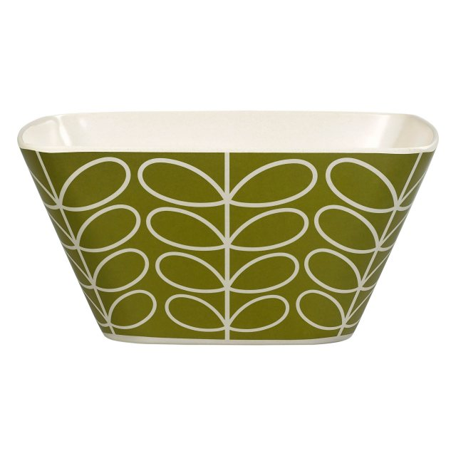 Orla Kiely Orla Kiely Linear Stem Bamboo Salad Bowl in Seagrass
