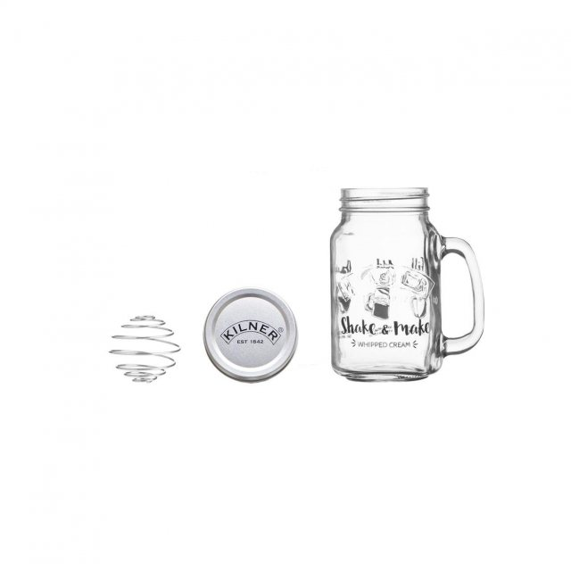 Kilner Kilner Shake and Make Whipped Cream Jar Set