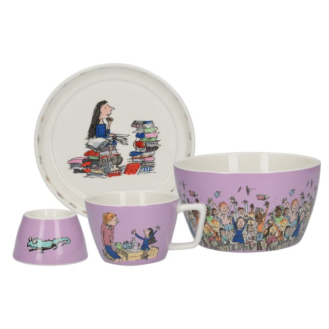 Roald Dahl Roald Dahl Matilda 4 piece Stacking Breakfast Set