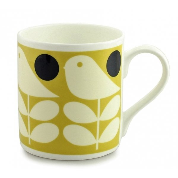 Orla Kiely Orla Kiely Early Bird Yellow Quite Big Mug
