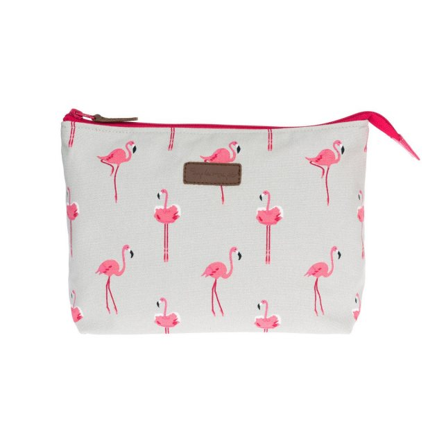 Sophie Allport Sophie Allport Flamingos Large Canvas Wash Bag