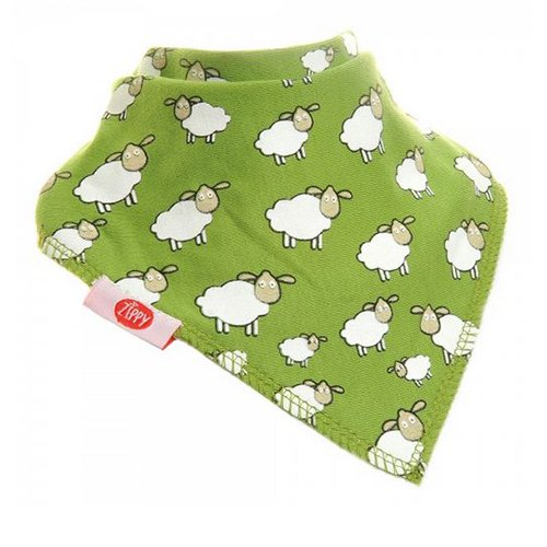 Ziggle Ziggle Baby Bandana Dribble Bib Green Sheep