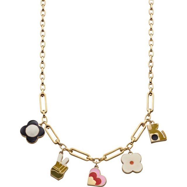 Orla Kiely Orla Kiely Camille Gold Plated Necklace