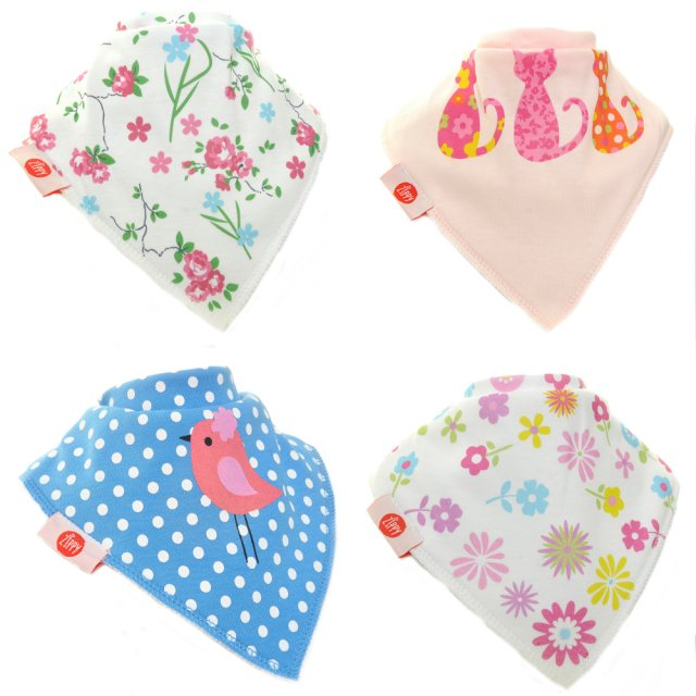 Zippybibs  Zippy Baby Bandana Dribble Bib 4 pack Cool