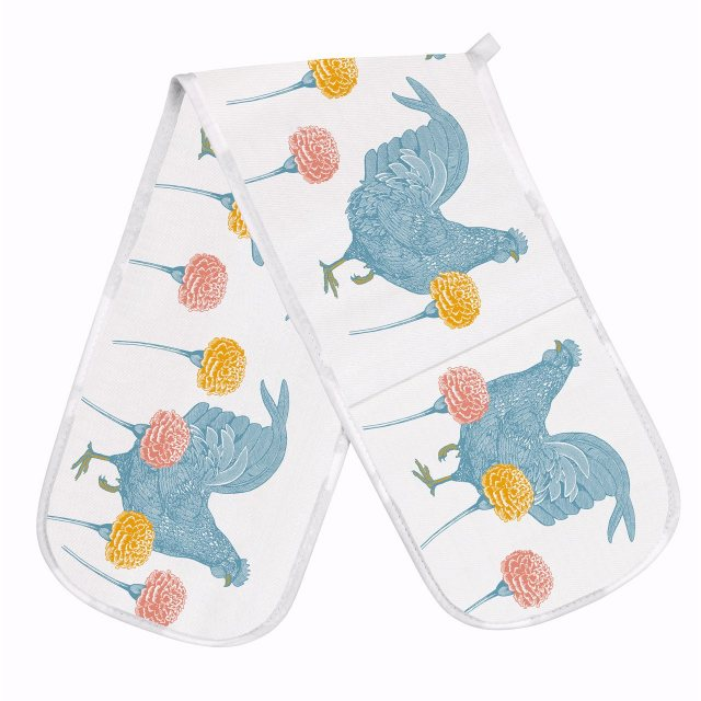 Thornback & Peel Thornback & Peel  Classic Rabbit & Carnation Double Oven Glove