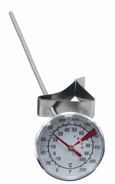 "Grunwerg Milk Frothing Thermometer 1.75"" Dial"