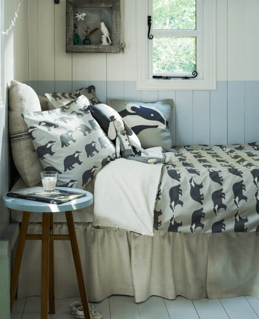 Anorak Anorak Kissing Badgers Single Duvet Set (Reversible)