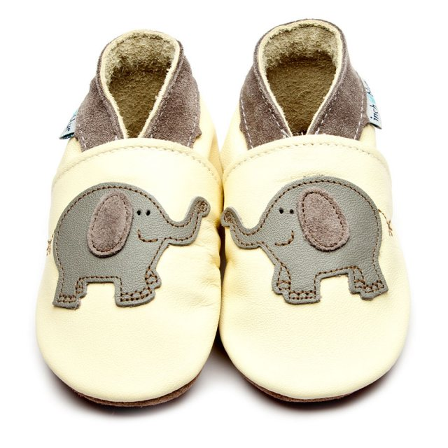 Inch Blue Buttermilk Elephant Shoes 6-12 Months
