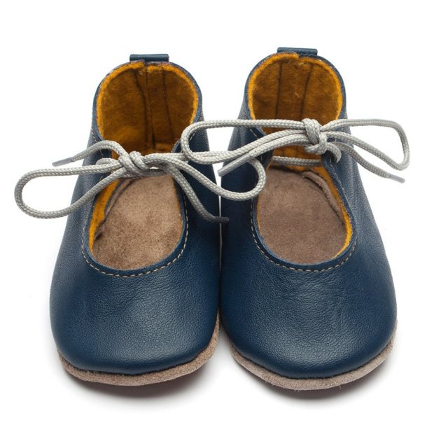 Inch Blue Mabel Navy Lace Up Shoes 6-12 Months