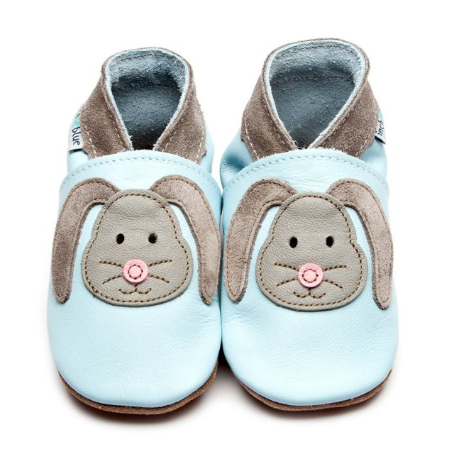 Inch Blue Blue Rag Bunny Shoes 6-12 Months