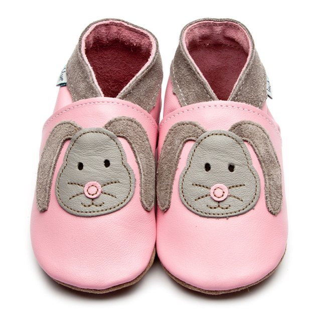 Inch Blue Pink Rag Bunny Shoes 6-12 Months
