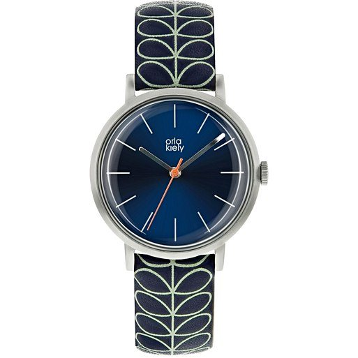 Orla Kiely Orla Kiely Patricia Linear Stem Navy Watch