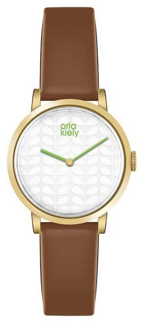 Orla Kiely Orla Kiely Luna Leather Strap Watch