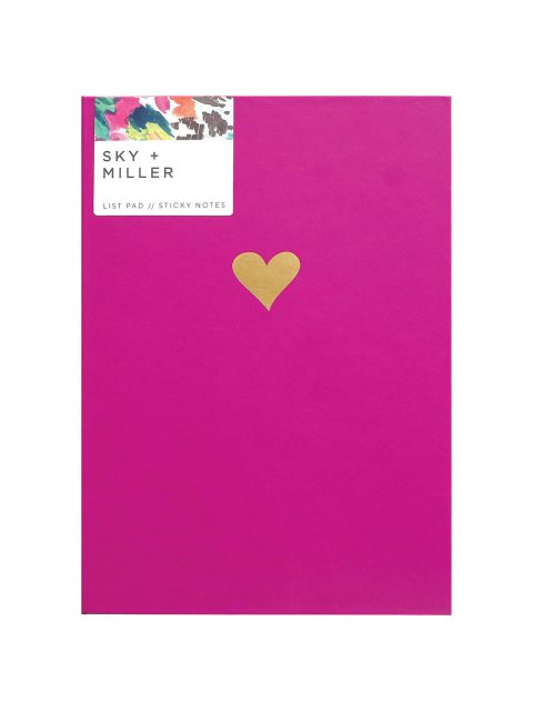 Sky + Miller Hearts Memo Pad & Sticky Notes