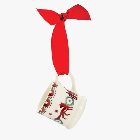 Emma Bridgewater Emma Bridgewater Christmas Joy Tiny Mug Tree Decoration