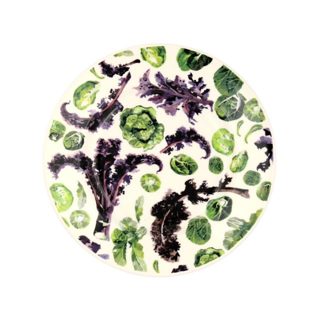 "Emma Bridgewater Emma Bridgewater Vegetable Garden Kale & Sprouts 8 1/2"" Plate"
