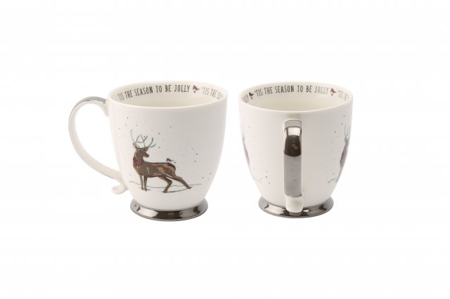 Deck The Halls 'Tis The Season to be Jolly' Stag Mug