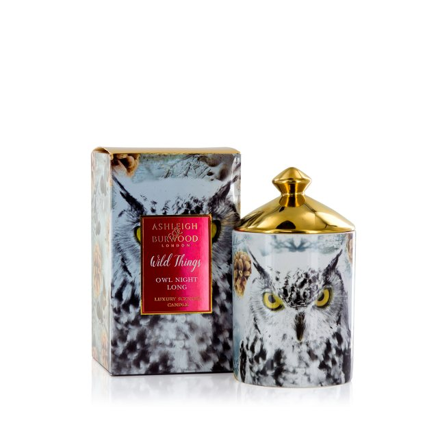 Ashleigh & Burwood London Wild Things Scented Candle: Owl Night Long - White Christmas