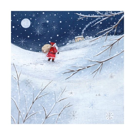 Father Christmas In The Snow Christmas Cards