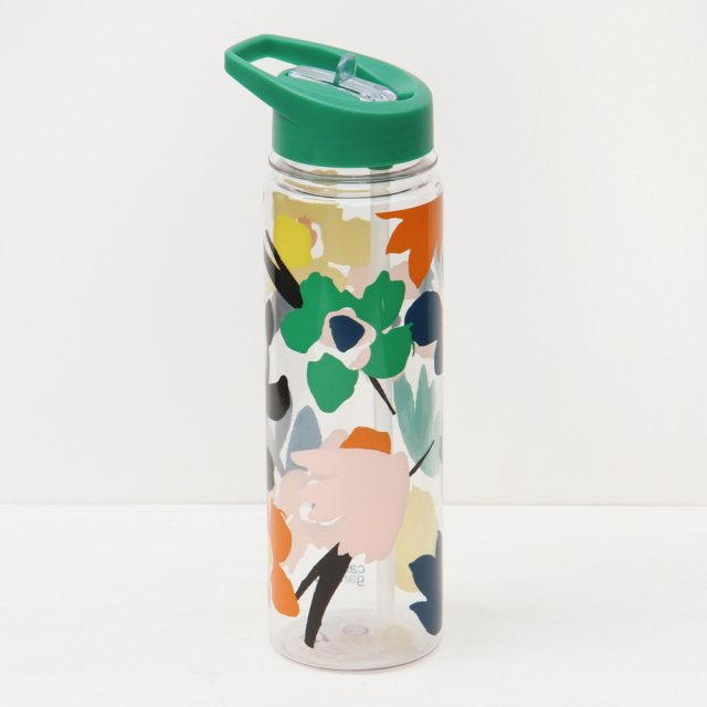 Caroline Gardner Caroline Gardner Green Dreamer Floral Abstract Water Bottle