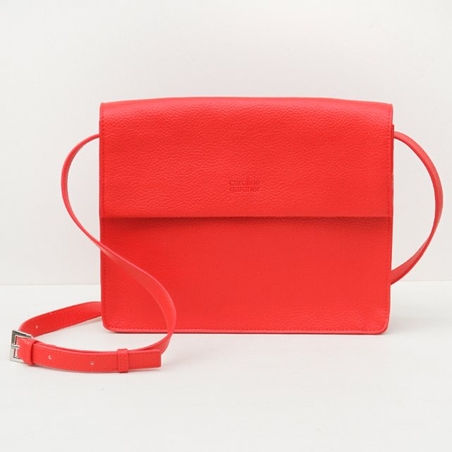 Caroline Gardner Caroline Gardner Hoxton Cross Body Bag Red